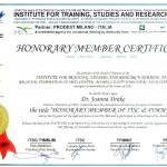 Certificat de Membru de Onoare Joanna Drake (1)